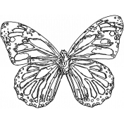 Bright Days- Butterfly Stamp