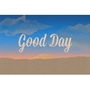Good Day Skyline- Day Journal Card w/ Text (4x6)