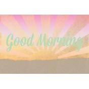 Good Day Skyline - Morning Journal Card w/ Text (4x6)