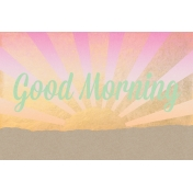 Good Day Skyline- Morning Journal Card w/ Text (4x6)