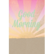 Good Day Skyline- Morning Journal Card Vertical w/ Text (4x6)