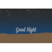 Good Day Skyline - Night Journal Card w/ Text (4x6)