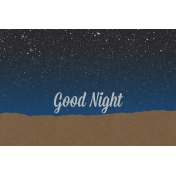 Good Day Skyline- Night Journal Card w/ Text (4x6)