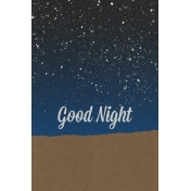 Good Day Skyline- Night Journal Card Vertical w/ Text (4x6)