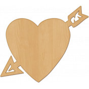 Bright Days Elements- Veneer Heart Cut-Out