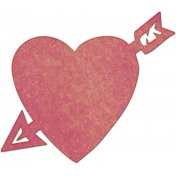 Bright Days Elements- Pink Veneer Heart Cut-Out