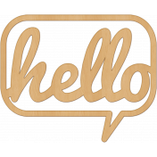 Bright Days Elements- Veneer Hello Cut-Out