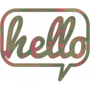 Bright Days Elements- Painted Veneer Hello Cut-Out