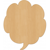 Bright Days Elements- Veneer Speech Bubble (3x4)