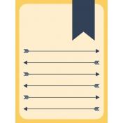 Work Day Journal Cards- Arrow List