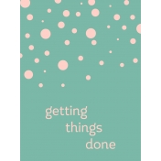 Work Day Journal Cards- Getting Things Done