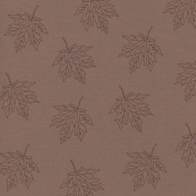 Autumn Day Embroidered Leaf Paper Mauve