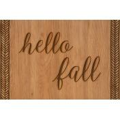 Autumn Day Journal Card- Hello Fall (Horizontal)