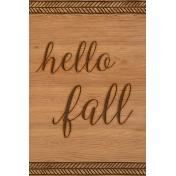 Autumn Day Journal Card- Hello Fall (Vertical)