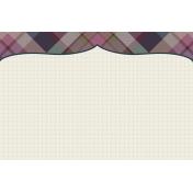 Autumn Day Journal Card- Plaid Bracket (Horizontal)