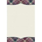 Autumn Day Journal Card- Plaid Bracket (Vertical)