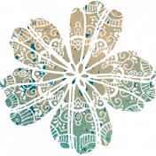 Bohemian Breeze Painty Bits- Flower 10