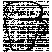 Autumn Day Teacup Doodle Template