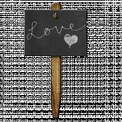Garden Stake- Love