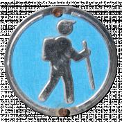 Metal Sign- Hiker