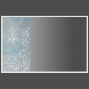 Frame With Floral Overlay and Gradient Overlay
