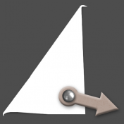 Folded Corner with Arrow Fastener (PSD allows for modifications)