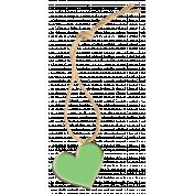 Hanging Enamel Heart 3