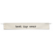 Stitched Tag- Best Day Ever