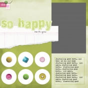 So Happy Template (One Photo Layout)