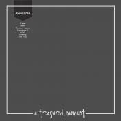 A Treasured Memory Quick Page
