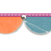 Half Circle Banner Border- Template with shadow