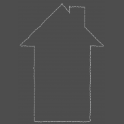 Stitched House Outline- with shadows
