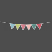 Banner with Scalloped Edge- PNG or Template