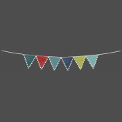 Banner with Flag Edge- PNG or Template