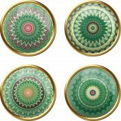 Green Mandala Brads 1