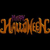 Happy Halloween Wordart 03