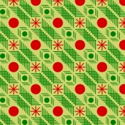 Red and green patterned paper 1