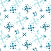 Let it snow- Blue And White Snowflake Paper
