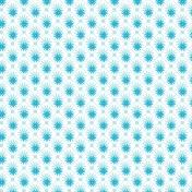 Blue winter flowers