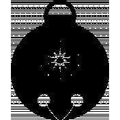 Jingle bell mask / template