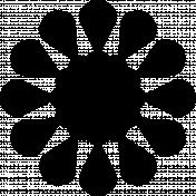 Flower Lea- shape template