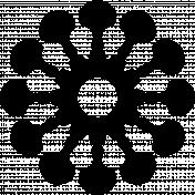 Flower Ela- shape template.