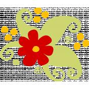 Cartoon floral cluster- stamp