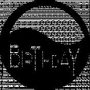 Birthday- circle word art template