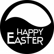 Happy Easter- Circle Word Art Template