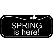 Spring is here- label template.