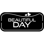 Beautiful day- label template.