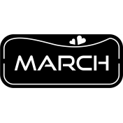 March- label template.