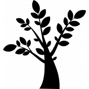 Tree digital stamp 1