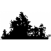 Bushes silhouette background stamp.